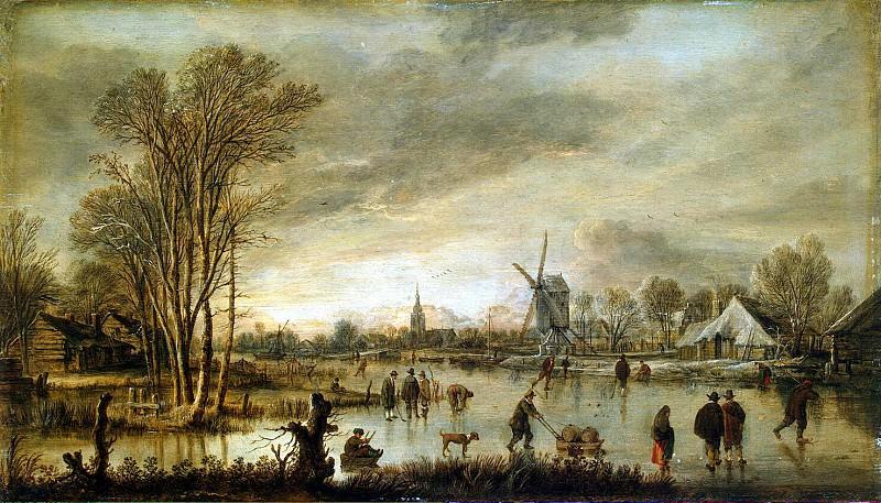 Ner, Art van der - Winter view of the river. Hermitage ~ part 09