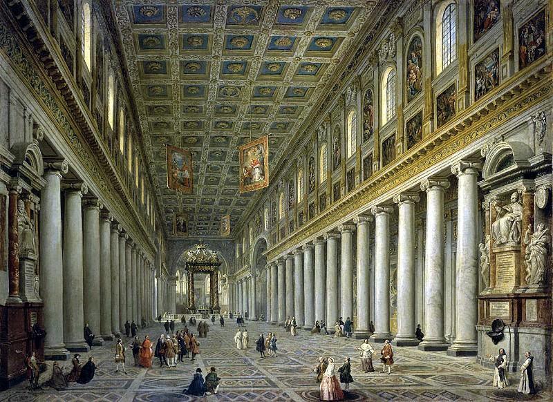 Panini, Giovanni Paolo - Interior of the Church of Santa Maria Maggiore in Rome. Hermitage ~ part 09