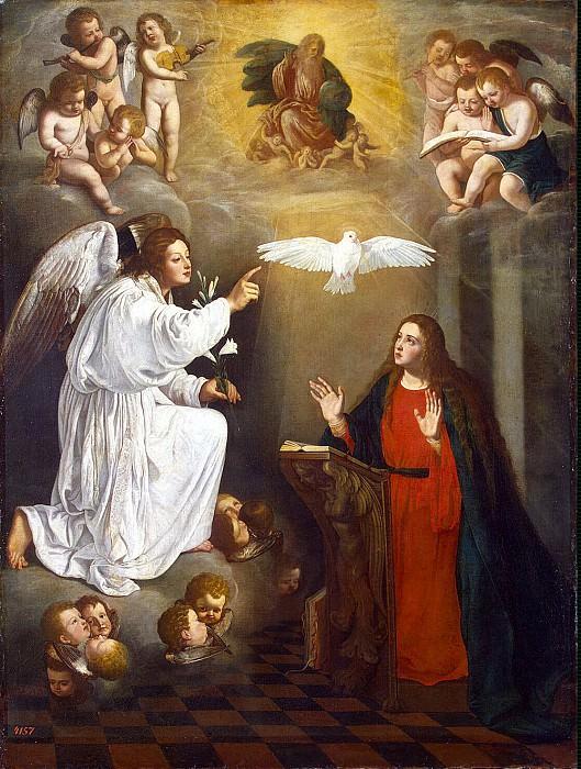 Nunez del Valle, Pedro - Annunciation. Hermitage ~ part 09
