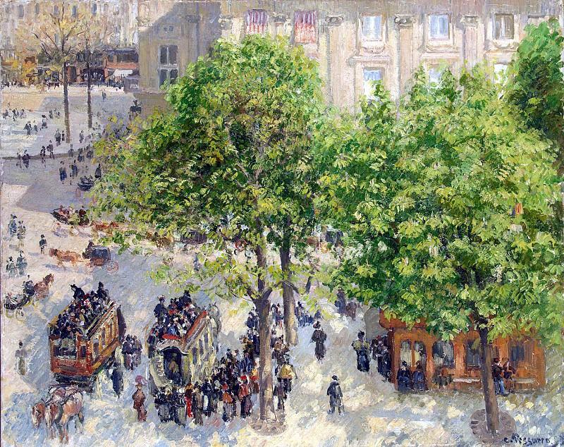 by Pissarro, Camille - Square Theatre Francais in Paris. Hermitage ~ part 09