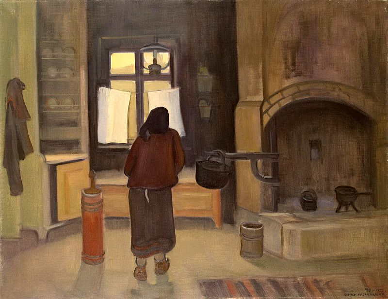 Nelimarkka, Eero Alexander - Morning in the farmhouse. Hermitage ~ part 09