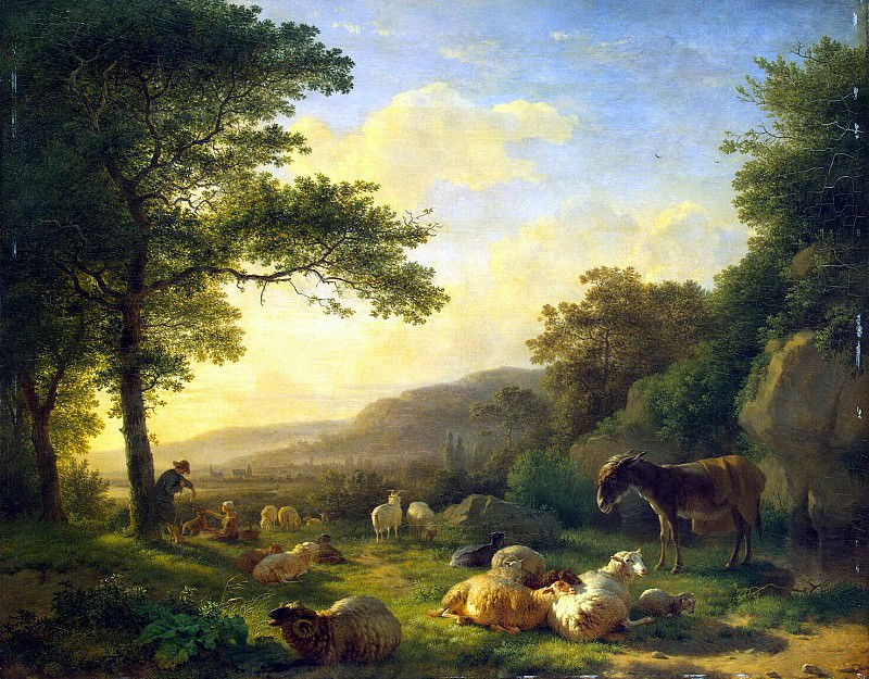 Omegank, Balthazar Paul - Landscape with a Herd. part 09 Hermitage