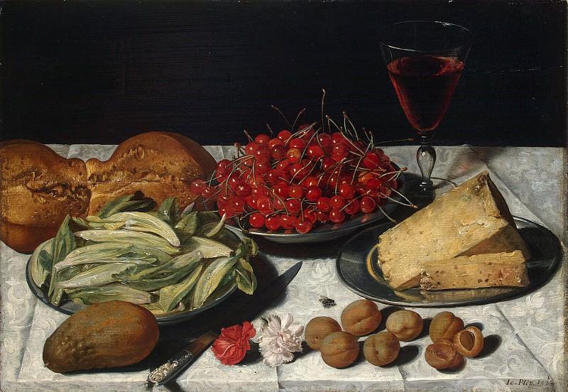 Plepp, Joseph - Natyupmort with cherries and cheese. Hermitage ~ part 09
