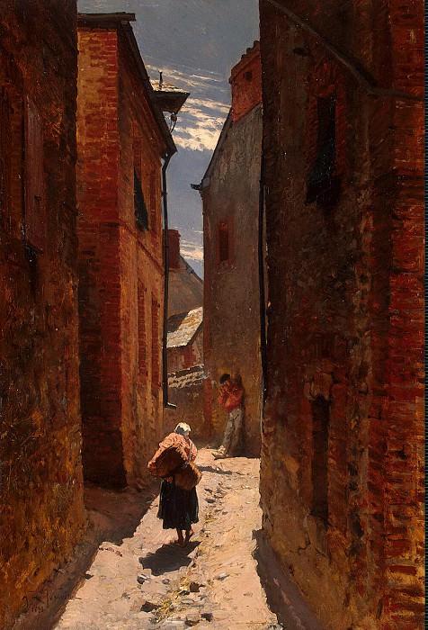 Neuville, Alphonse Marie de - old town street. Hermitage ~ part 09