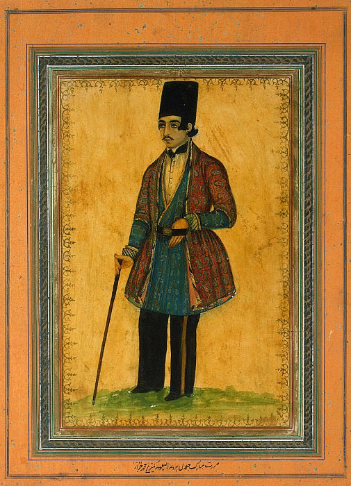 Mohammad Javad - Portrait of a man with a cane. Hermitage ~ part 09