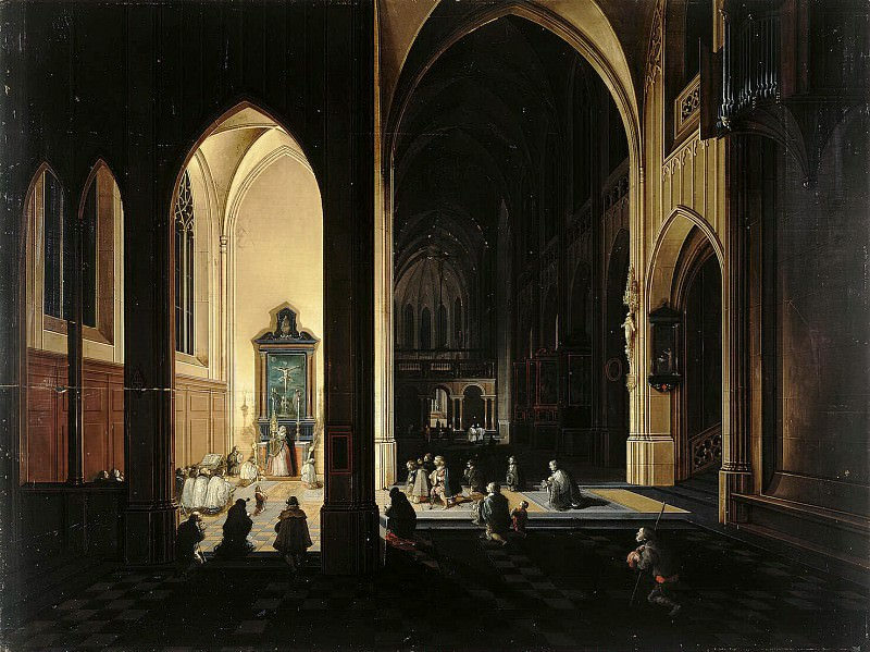 Neffs, Peter Senior - Interior of a Gothic church (2). Hermitage ~ part 09