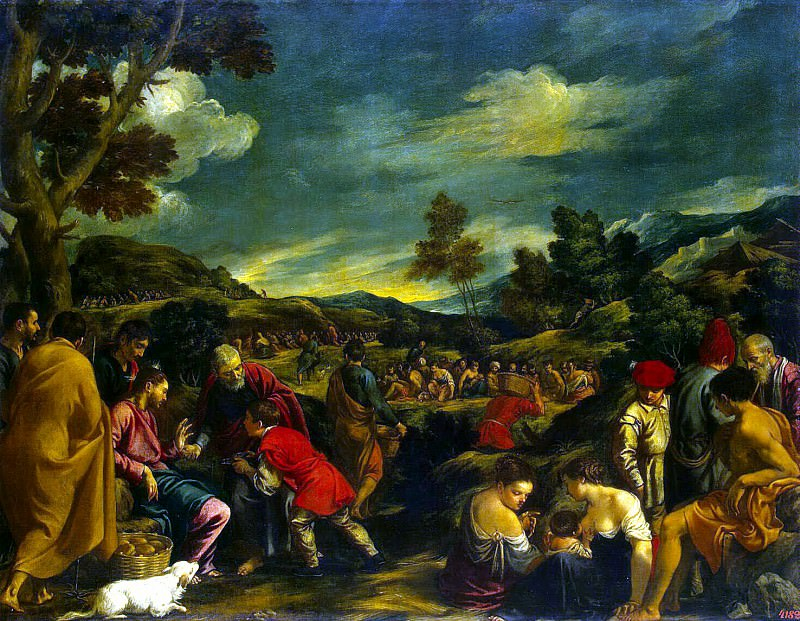 Orrente, Pedro - Miracle of the bread and fish. Hermitage ~ part 09