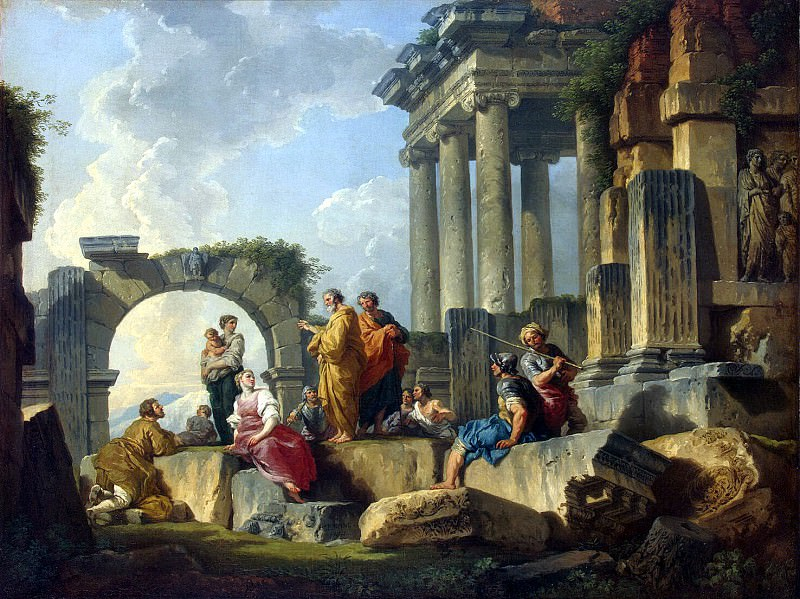 Pannini, Giovanni - The ruins from the scene of the preaching of the Apostle Paul. Hermitage ~ part 09