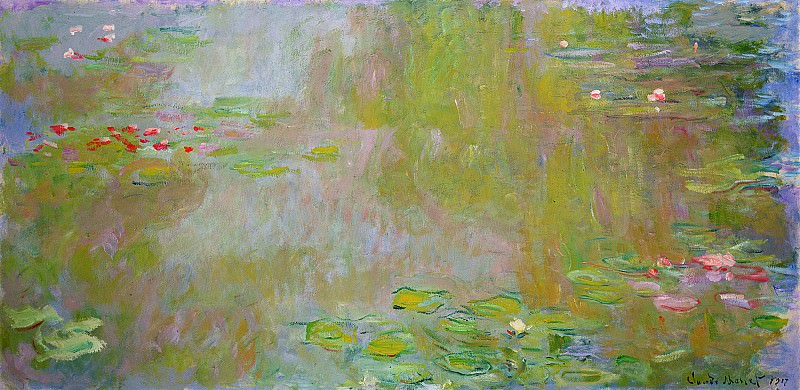 Water Lily Pond, 1917 01. Claude Oscar Monet