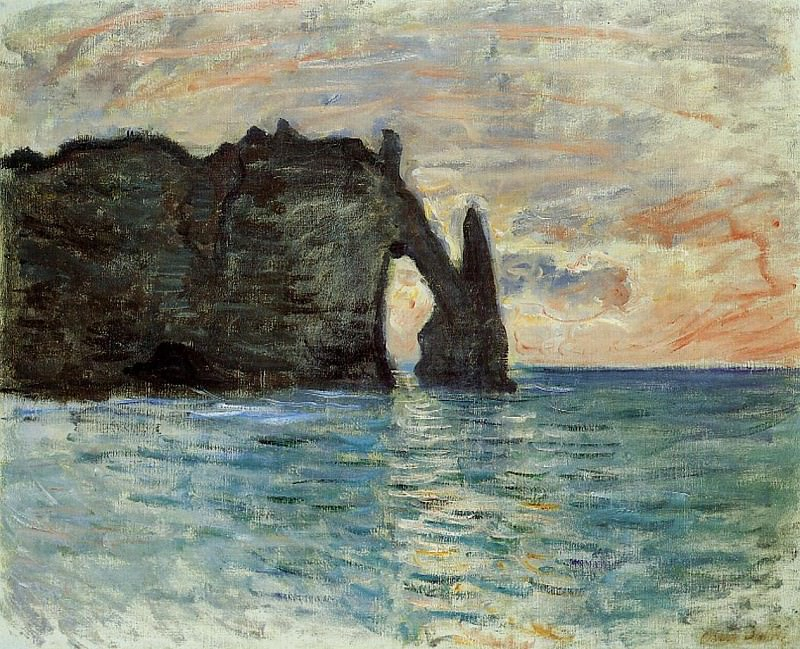 The Manneport, Cliff at Etretat. Клод Оскар Моне
