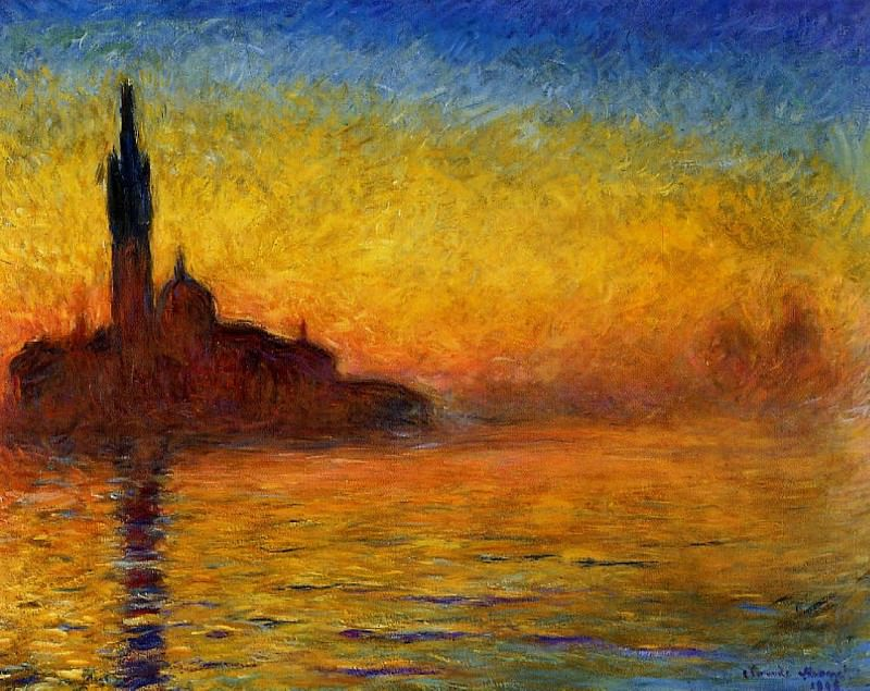 Twilight, Venice. Claude Oscar Monet