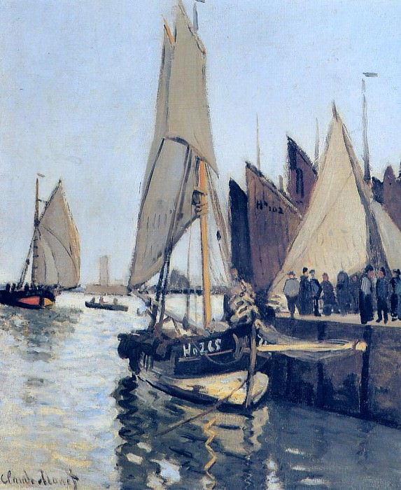 Sailing Boats at Honfleur. Claude Oscar Monet