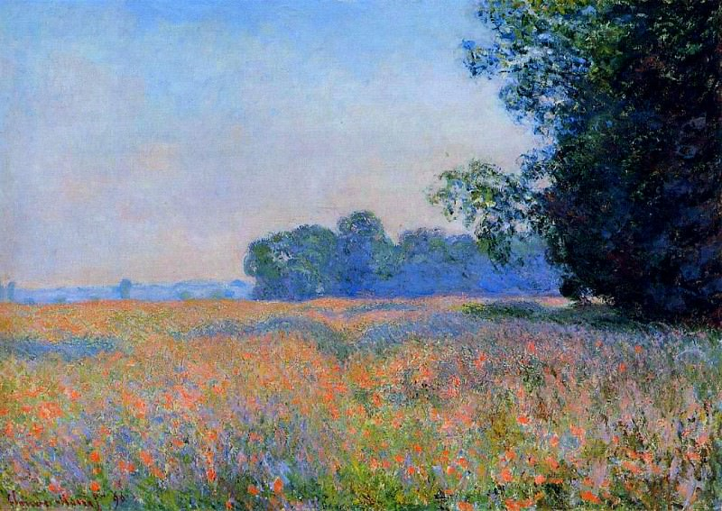 Oat Field. Claude Oscar Monet