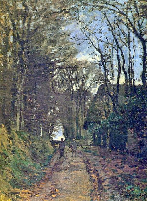 Lane in Normandy. Claude Oscar Monet
