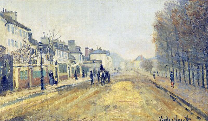 The Boulevard Heloise in Argenteuil. Claude Oscar Monet