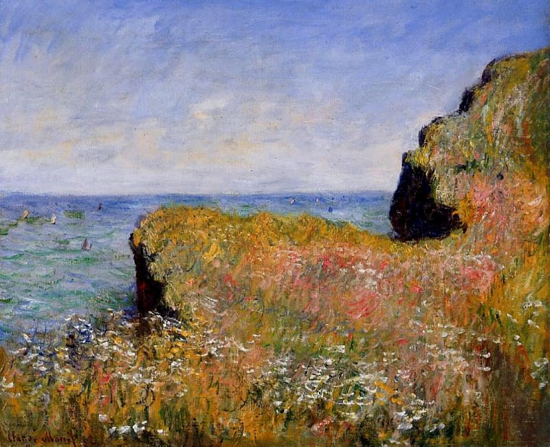 Edge of the Cliff, Pourville. Claude Oscar Monet