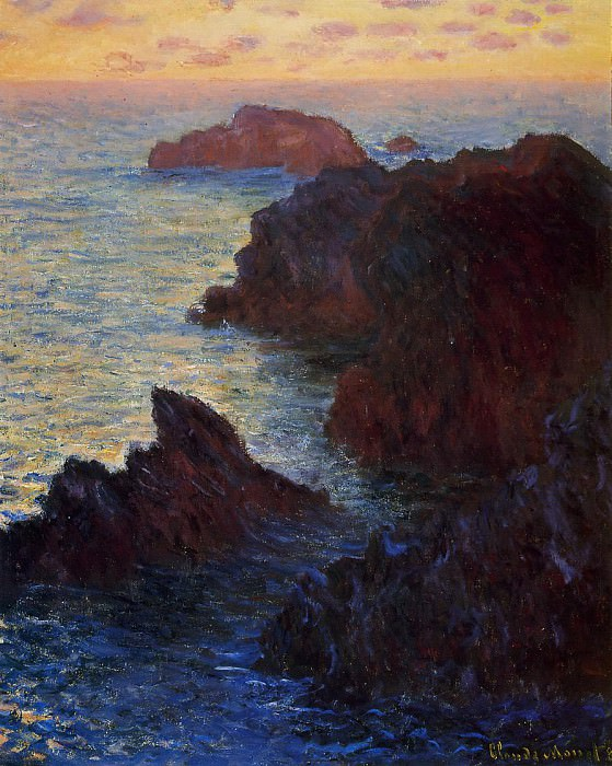 Rocky Point at Port-Goulphar. Claude Oscar Monet