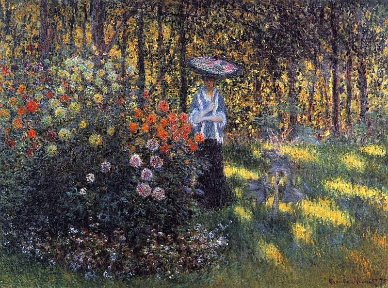 Woman with a Parasol in the Garden in Argenteuil. Claude Oscar Monet