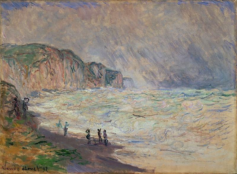 Heavy Sea at Pourville. Claude Oscar Monet