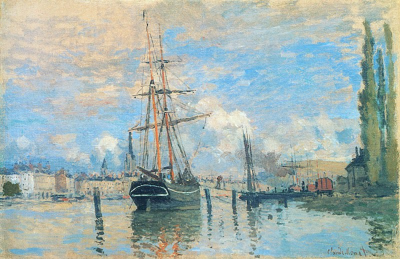 The Seine at Rouen. Claude Oscar Monet