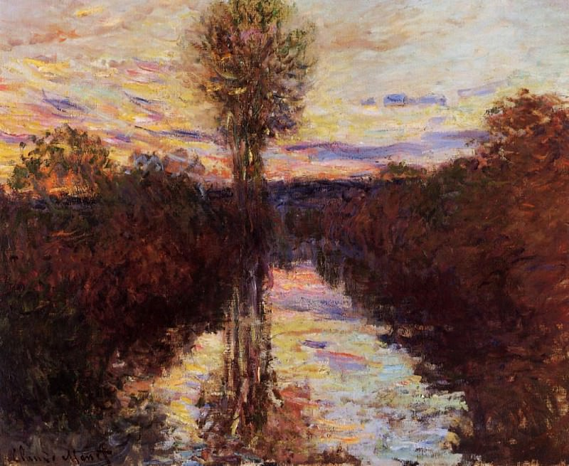 The Small Arm of the Seine at Mosseaux, Evening. Claude Oscar Monet