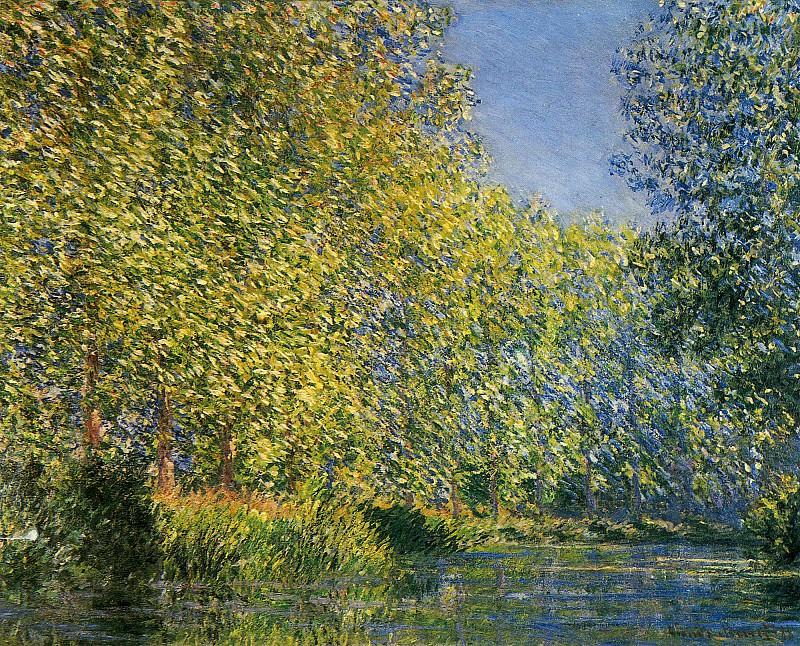 Bend in the River Epte. Claude Oscar Monet