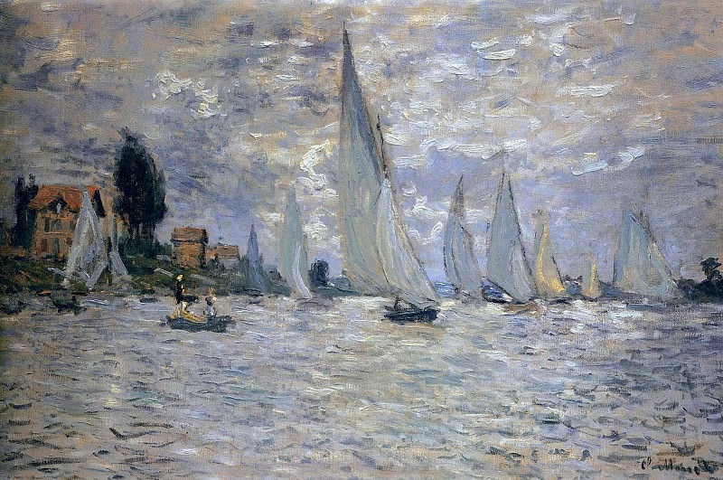 The Boats Regatta at Argenteuil. Claude Oscar Monet