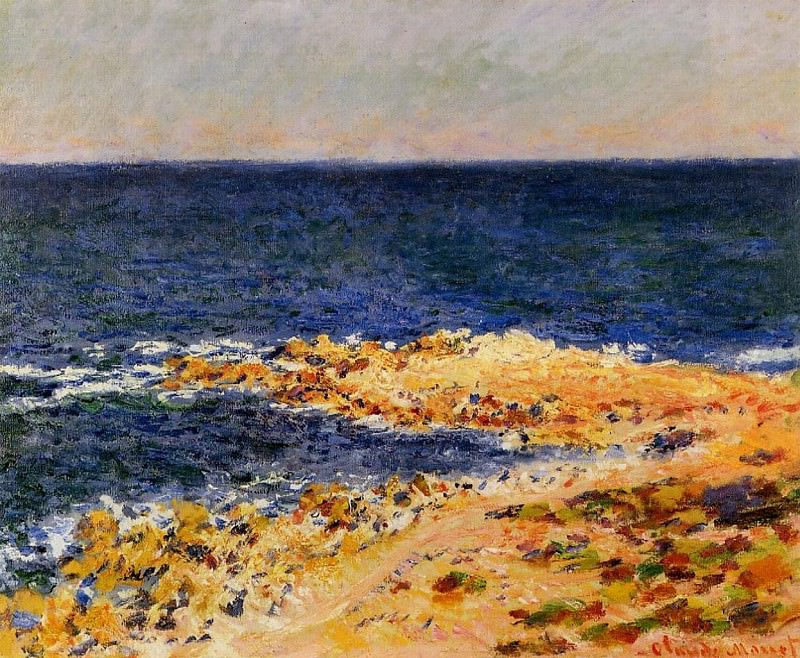 The 'Big Blue' at Antibes. Claude Oscar Monet