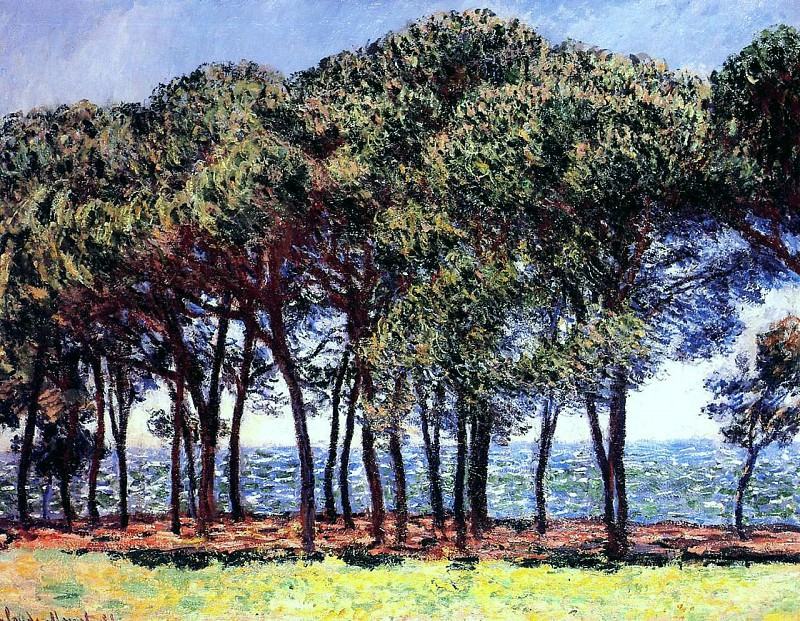 Pine Trees, Cap d'Antibes. Claude Oscar Monet