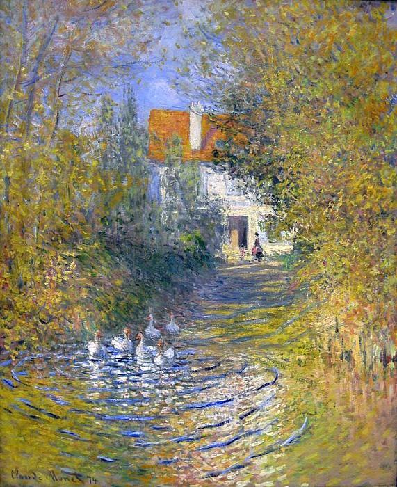 Les oies dans le ruisseau. Claude Oscar Monet