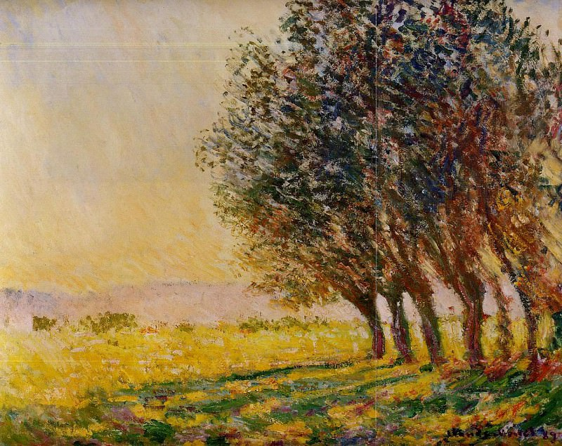 Willows at Sunset. Claude Oscar Monet