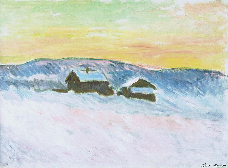 Paysage of Norway, the Blue Houses. Claude Oscar Monet