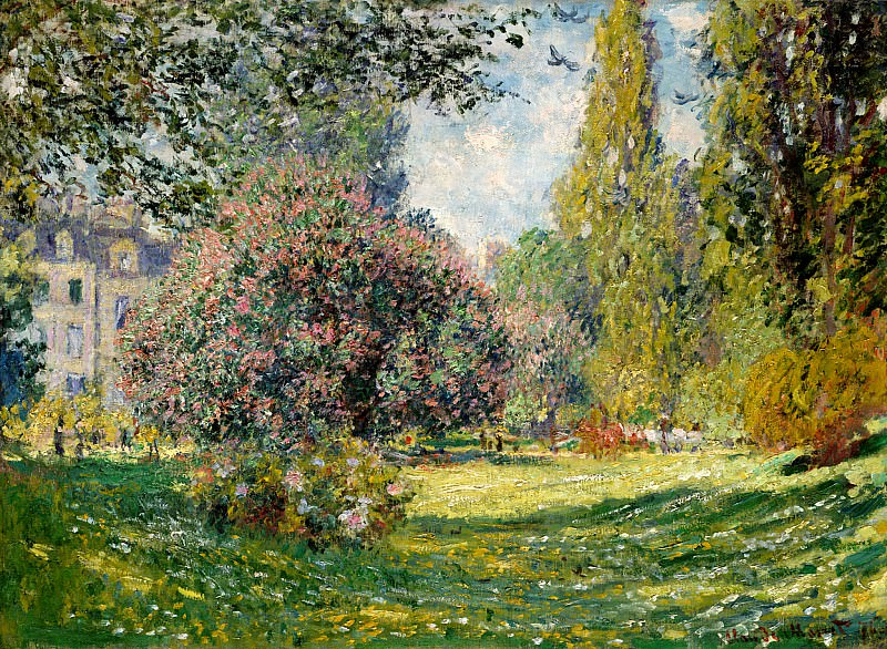 Parc Monceau, Paris. Claude Oscar Monet