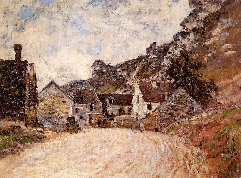 The Hamlet of Chantemesie at the Foot of the Rock. Claude Oscar Monet
