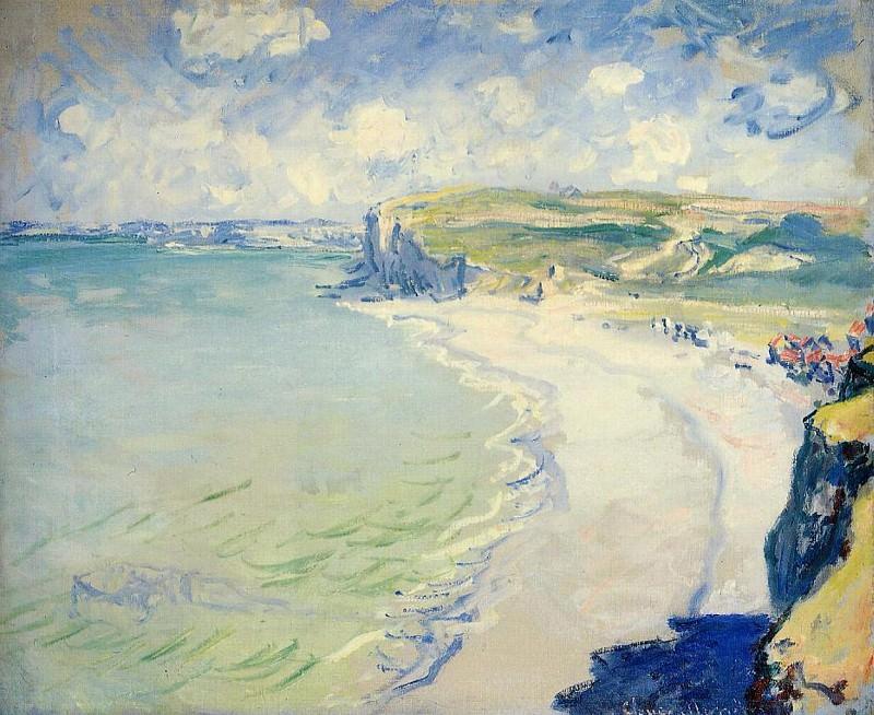 The Beach at Pourville. Claude Oscar Monet