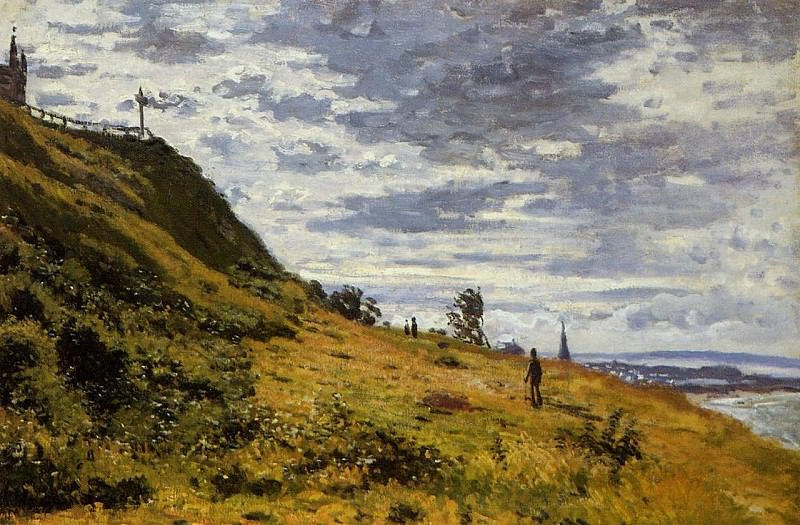 Taking a Walk on the Cliffs of Sainte-Adresse. Claude Oscar Monet