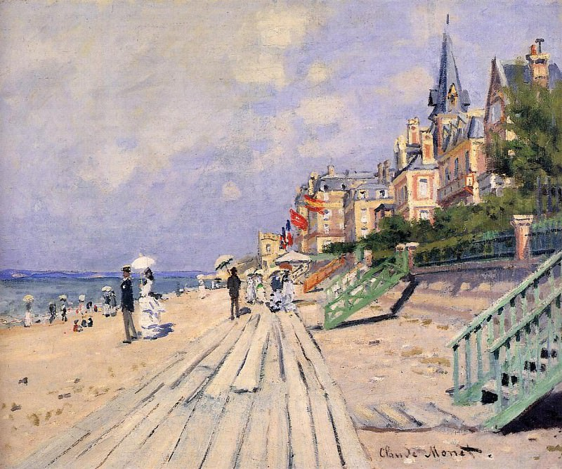 The Boardwalk at Trouville. Клод Оскар Моне