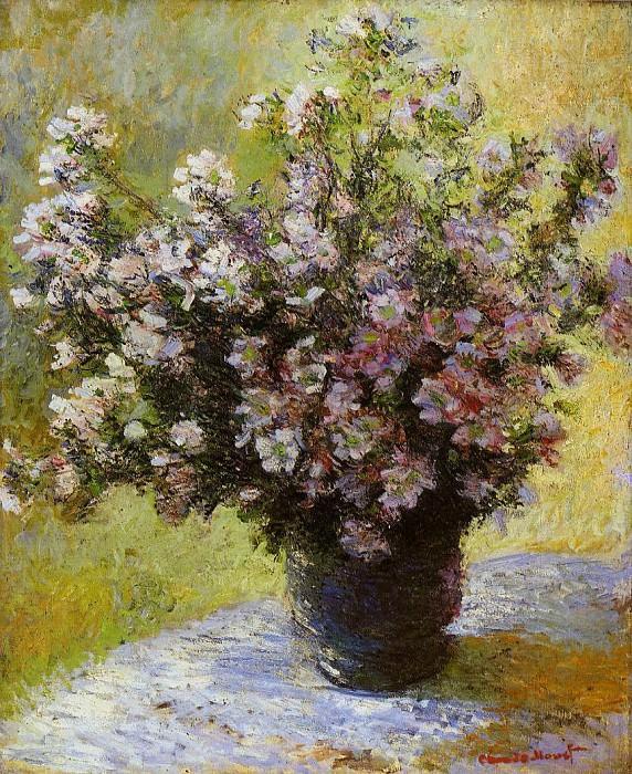Bouquet of Mallows. Claude Oscar Monet
