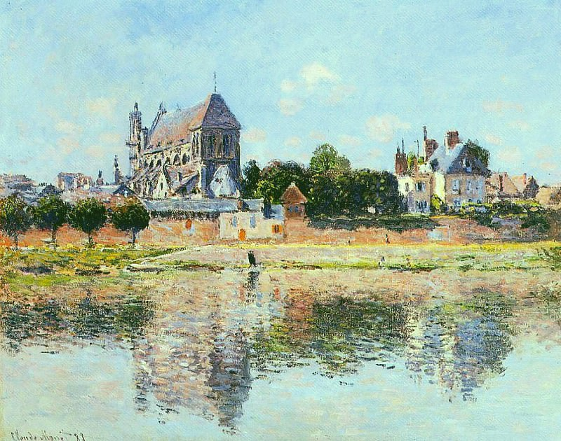 View of the Church at Vernon. Claude Oscar Monet