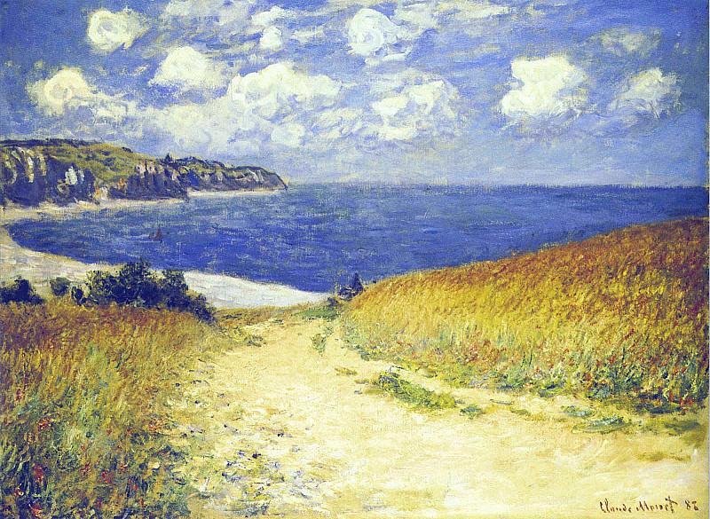 Chemin de Traverse pres de Pourville. Claude Oscar Monet