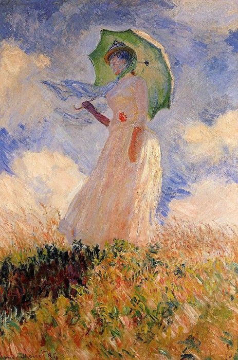 Woman with a Parasol (also known as Study of a Figure Outdoors (Facing Left)). Claude Oscar Monet