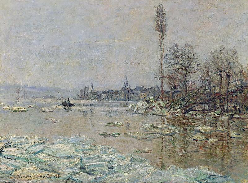 Breakup of Ice. Claude Oscar Monet