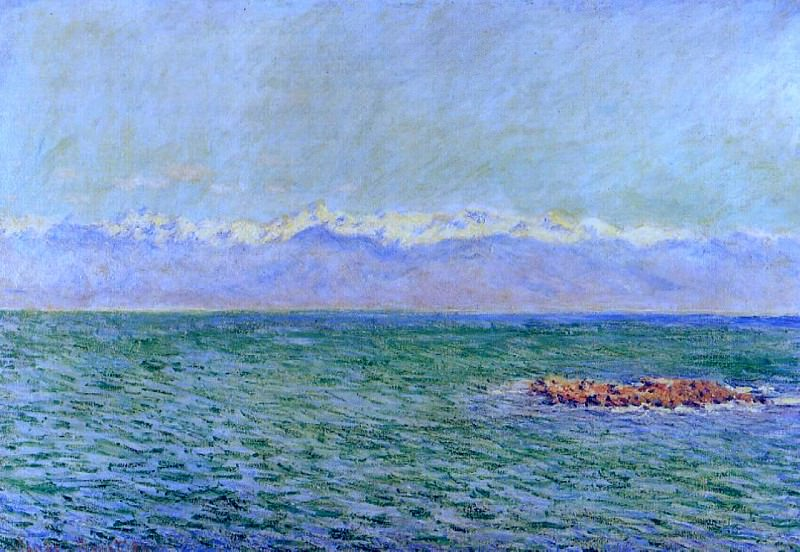 The Sea and the Alps. Claude Oscar Monet