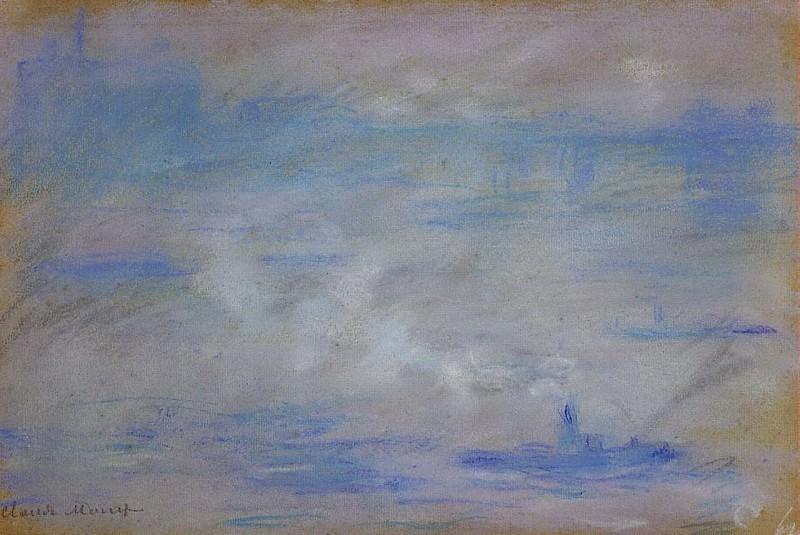 Boats on the Thames, Fog Effect. Claude Oscar Monet