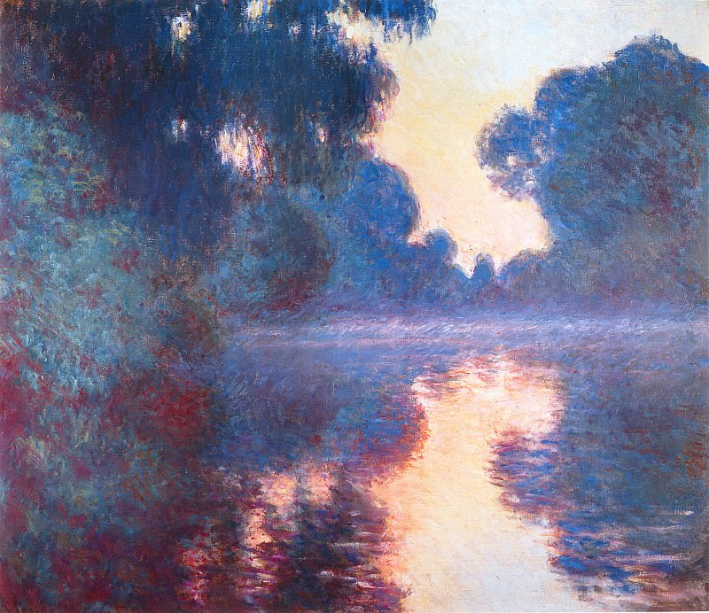 Misty Morning on the Seine in Bue. Claude Oscar Monet