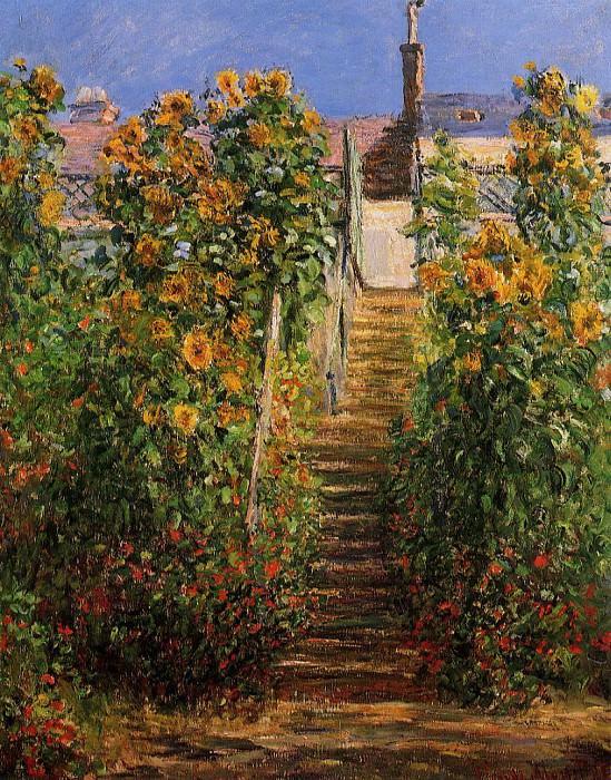 The Steps at Vetheuil. Claude Oscar Monet