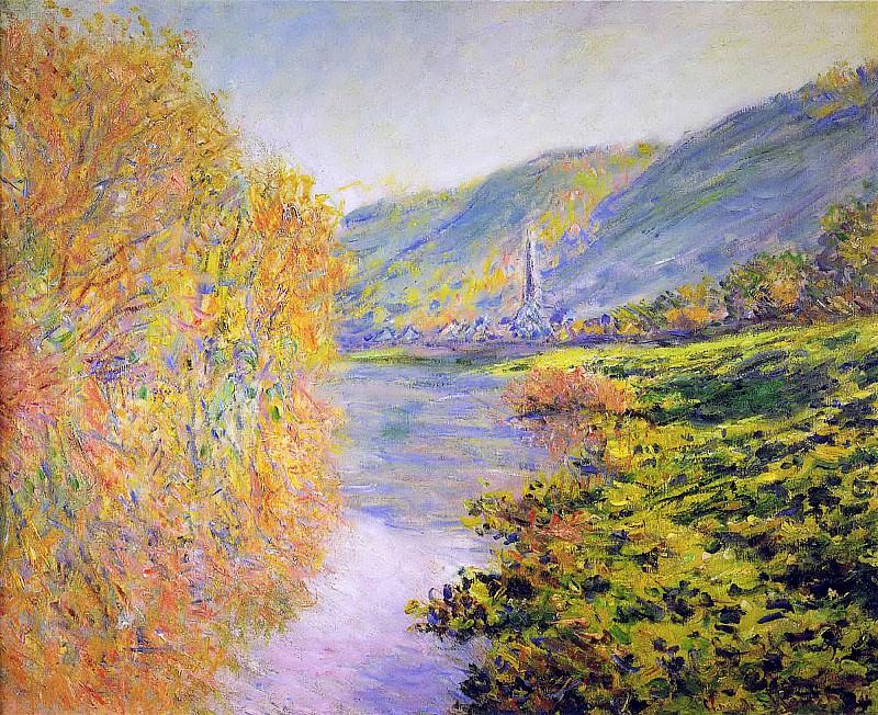 Banks of the Seine at Jeufosse, Autumn. Claude Oscar Monet