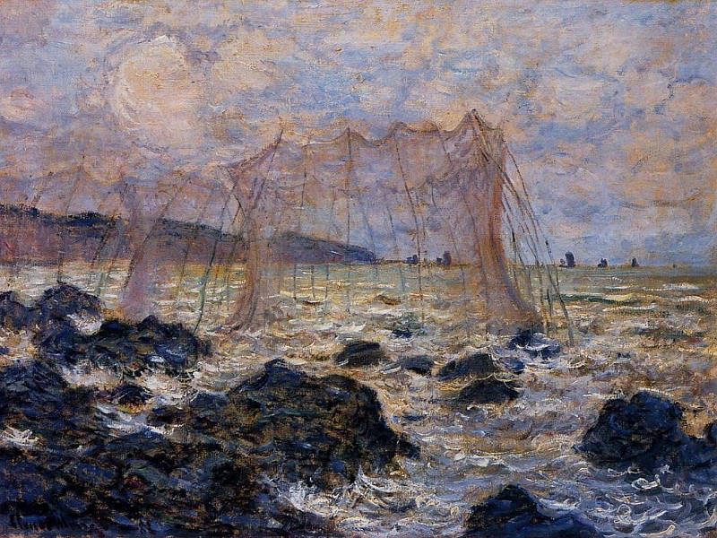 Fishing Nets at Pourville. Claude Oscar Monet