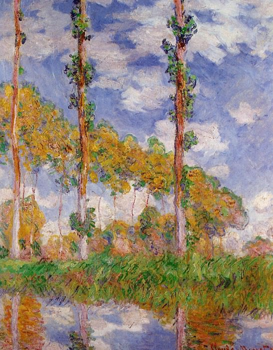 Three Trees in Summer. Claude Oscar Monet