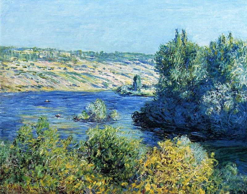 The Seine at Vetheuil. Claude Oscar Monet